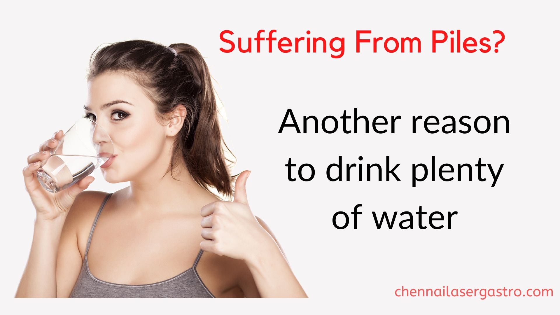 drink water for piles treament